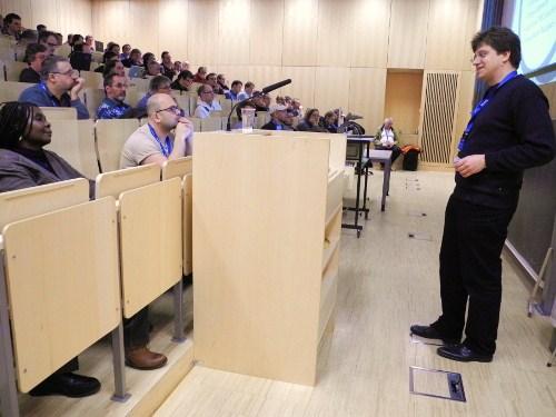Kurt Garloff sprach bei seiner Keynote ... (Foto: Erwin Hoffmann)